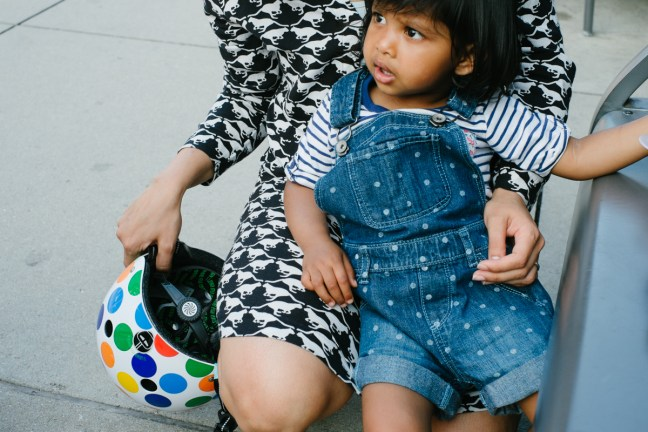 Picture by Dottie Brackett of Asha and Helmet, Little Nutty by Nutcase