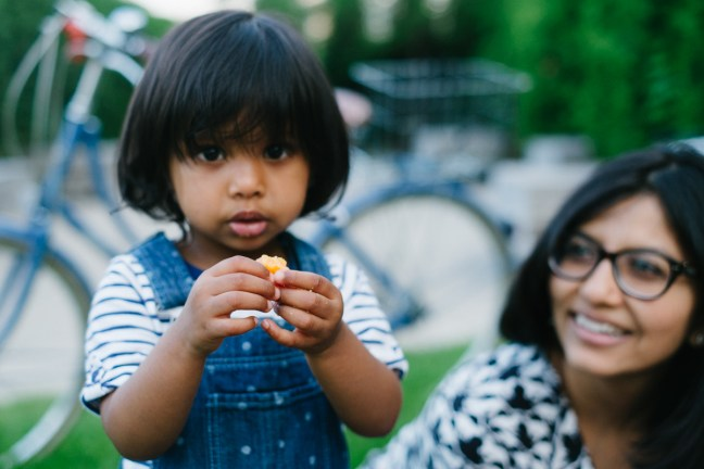 Picture by Dottie Brackett of Asha and Chesse. Millennium Park Picnic