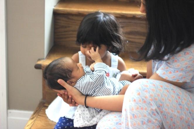 Arjun in Asha's lap