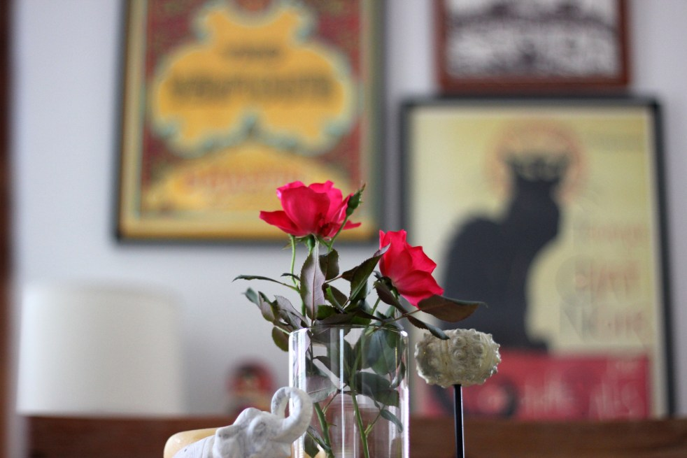 Roses in Dining Room