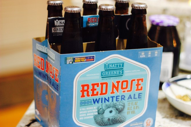 Local Beer. Natty Greene's Red Nose Winter Ale