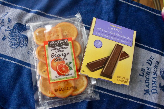 dried orange dipped in dark chocolate
