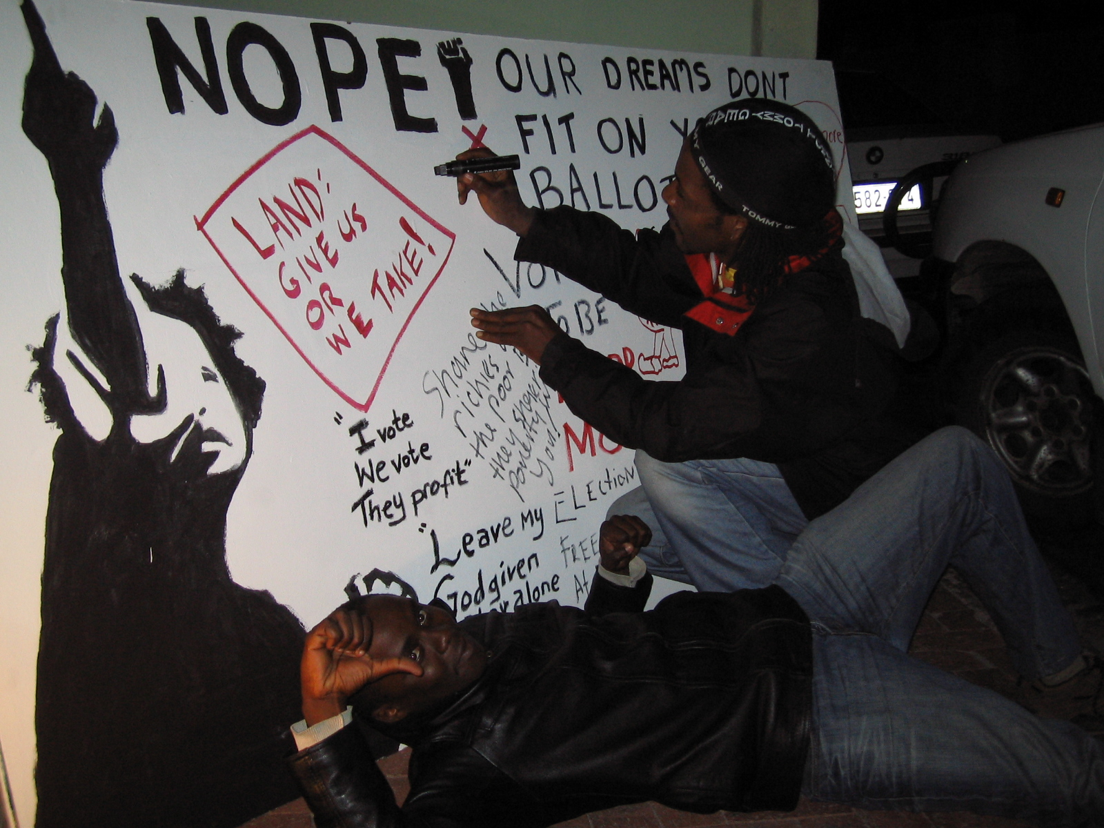 Vrygrond and Kyalitsha Nopesters put their thoughts and desires on the big board