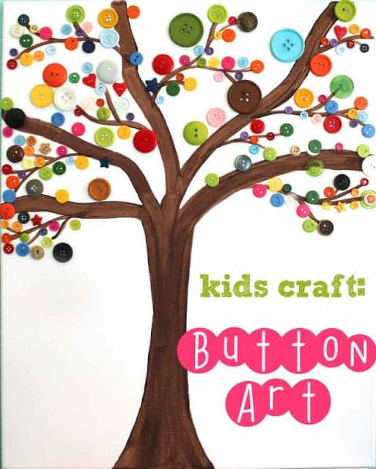 Toddler Crafts & Activities Roundup - kids' button art