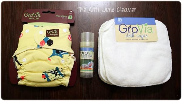 GroVia Kiwi Pie, Magic Stick, Wipes