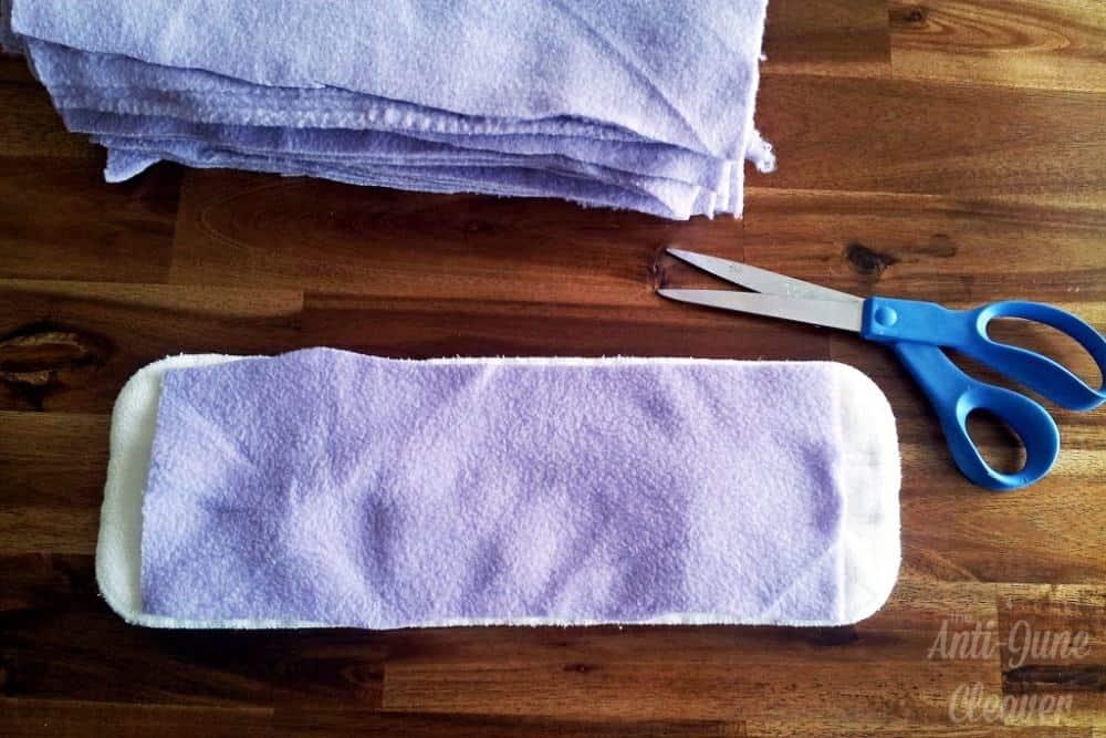 Make your own DIY fleece cloth diaper liners