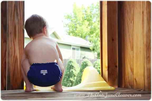 AppleCheeks Swim Diaper review #clothdiapers