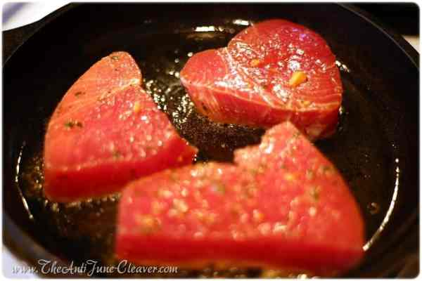 Asian tuna steaks #recipe and Daregal fresh frozen herbs #review