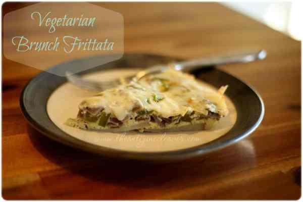 Vegetarian Brunch Frittata #recipe #PAMSmartTips #ad
