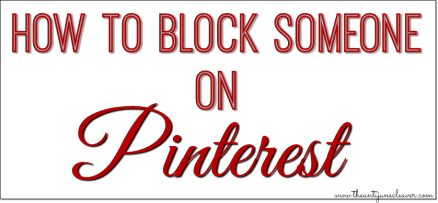 How to block or report someone on Pinterest