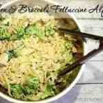 #ad Easy Grilled Chicken and Broccoli Fettuccine Alfredo
