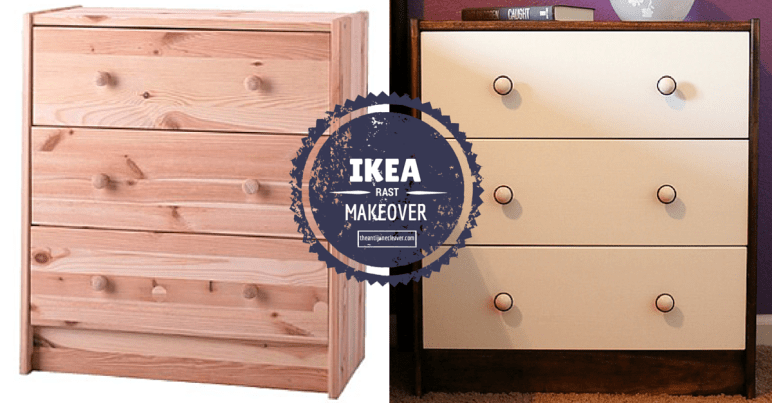IKEA Hack: RAST makeover - from boring to beautiful. Transforming a plain old RAST 3 drawer chest into an attractive and functional bedside table