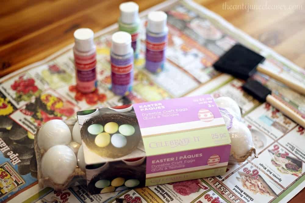 Easy Easter egg centerpiece decoration