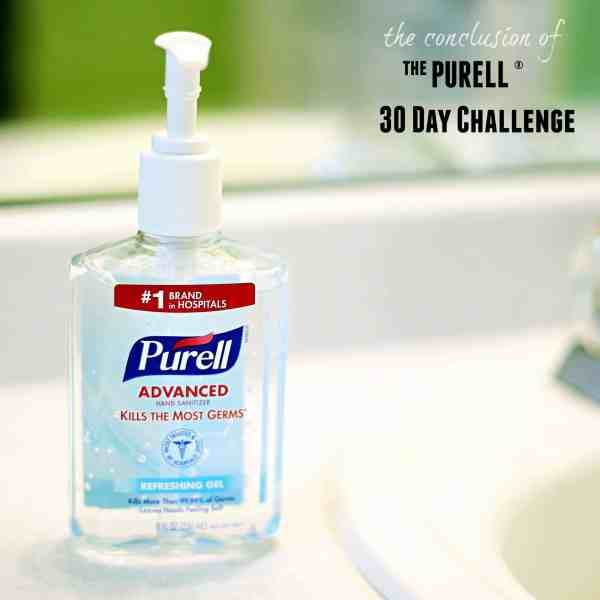 The conclusion of our 30-day #PURELLChallenge #PURELL30 (ad)