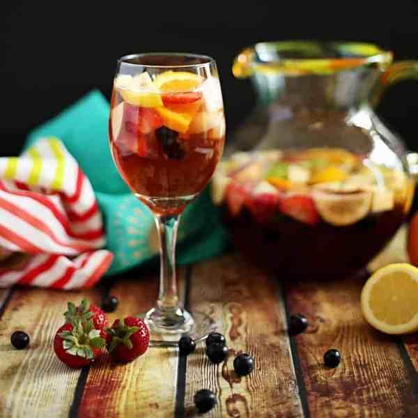 Alcoholic Sangria Mocktail - Anti-june Cleaver