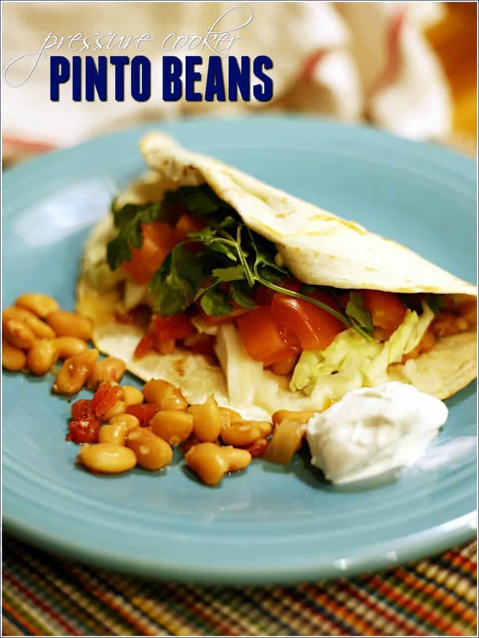 Pressure Cooker Pinto Beans Recipe