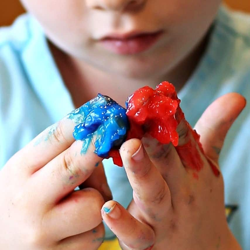 DIY Non-Toxic Homemade Finger Paint Recipe #Clean2TheCore AD