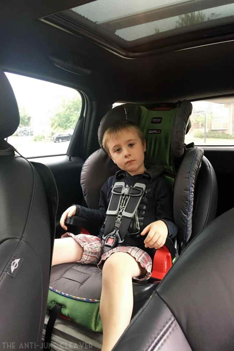 Car seat safety: When to switch from a harnessed booster seat to a backless booster seat