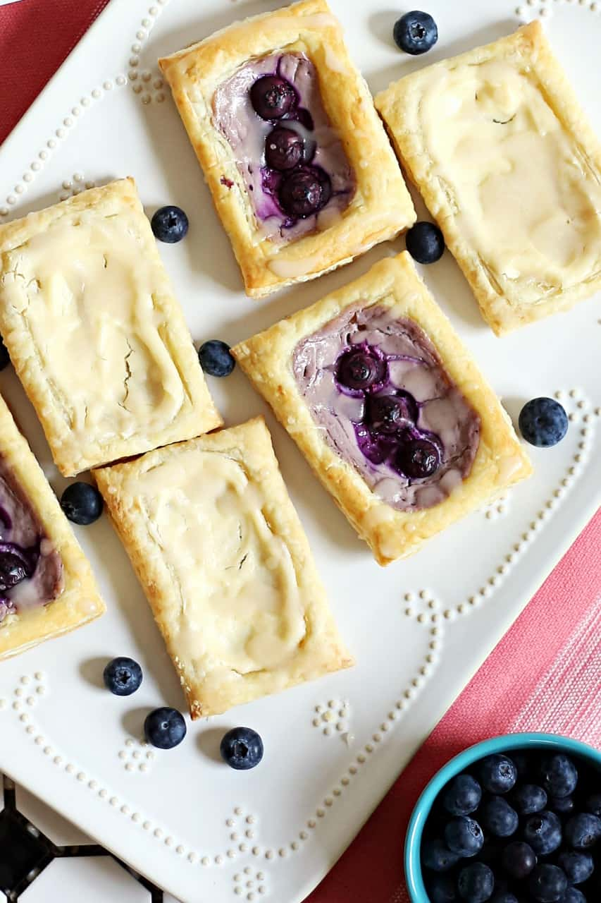 Super Easy Breakfast: Cheese & Blueberry Danish with Puff Pastry