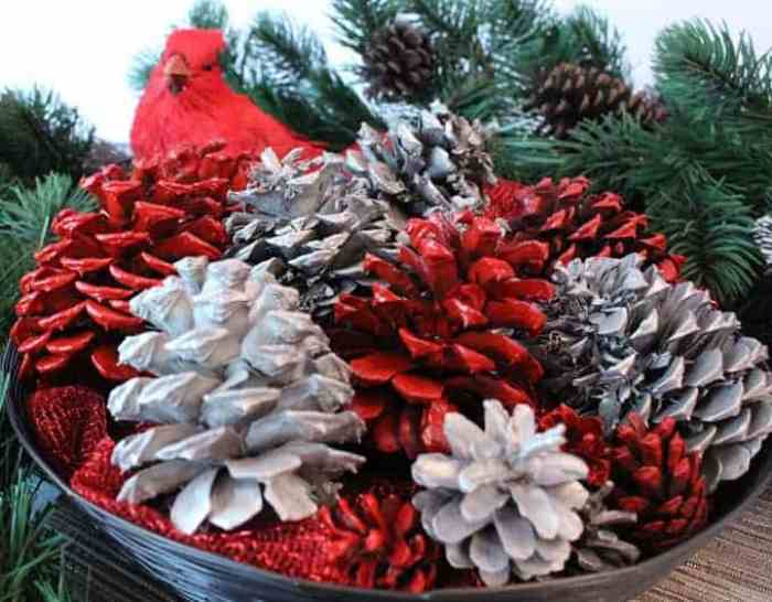 17 Christmas Pinecone Crafts And Ornaments The Anti June