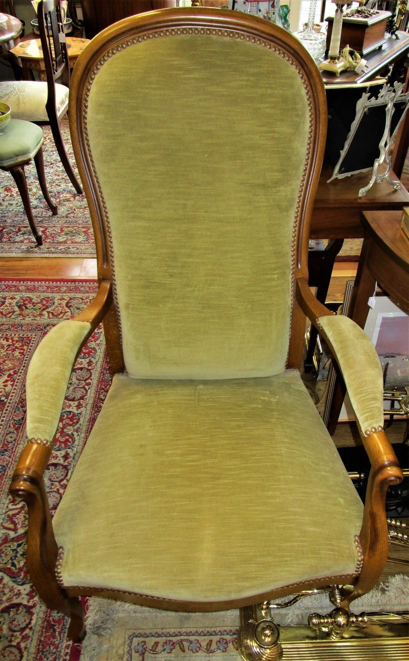 Green Upholstered Chair Green Upholstered Armchair Se1616dx The Antique Shop