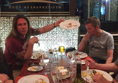 Rik Ferguson proudly demonstrating an almost empty plate