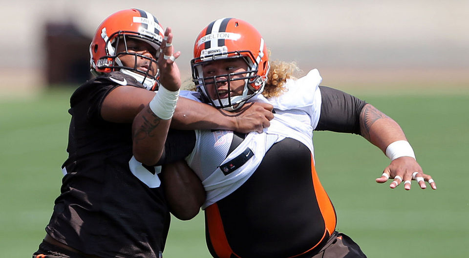 Cleveland Browns Danny Shelton at Browns rookie mini camp. (Joshua Gunter/ Northeast Ohio Media Group) Friday, May 8, 2015. Berea, Ohio.