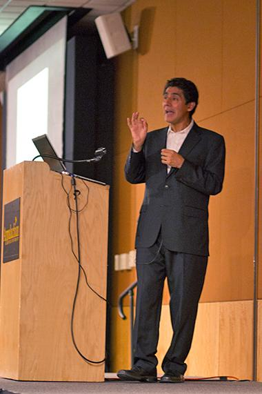 Dr. Omar H. Ali gives a lecture for Multicultural programming Tuesday evening entitled History, Africa and Islam in the Making of the Modern World. Dr. Omar H. Ali is an Associate Professer at University of North Carolina Greensboro. Courtney Roskos | The Appalachian