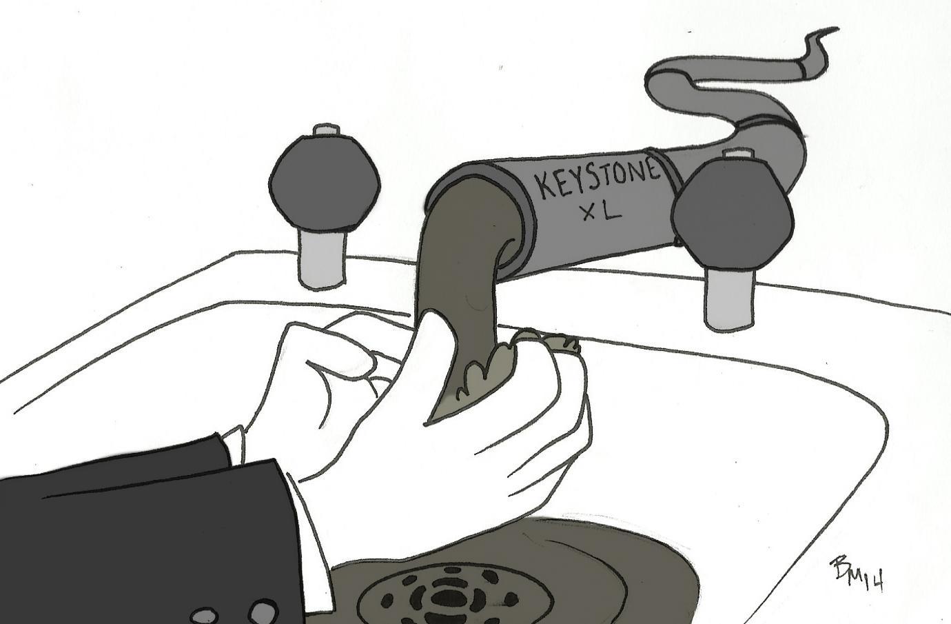 Editorial cartoon: Keystone XL