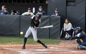 Softball splits Wednesday double header