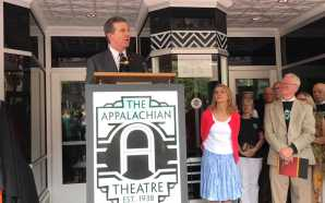 Governor Roy Cooper visits Boone to support Appalachian Theatre