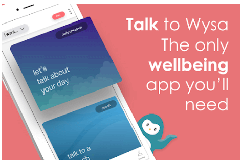 Screenshot of Wysa_ stress, depression & anxiety therapy chatbot