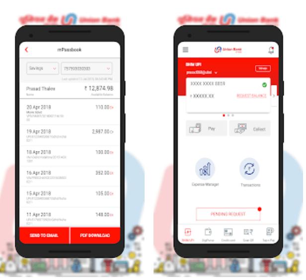 Screenshot of u mobile app