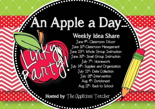Homework! Oh Homework! An Apple a Day Linky Party
