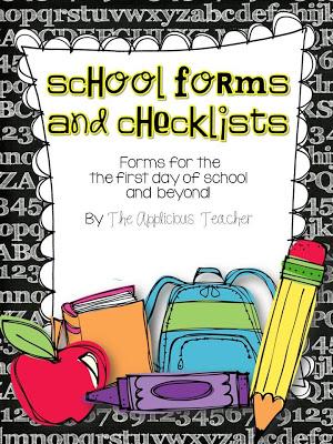 First Week of School Fun and a FREEBIE! - The Applicious Teacher