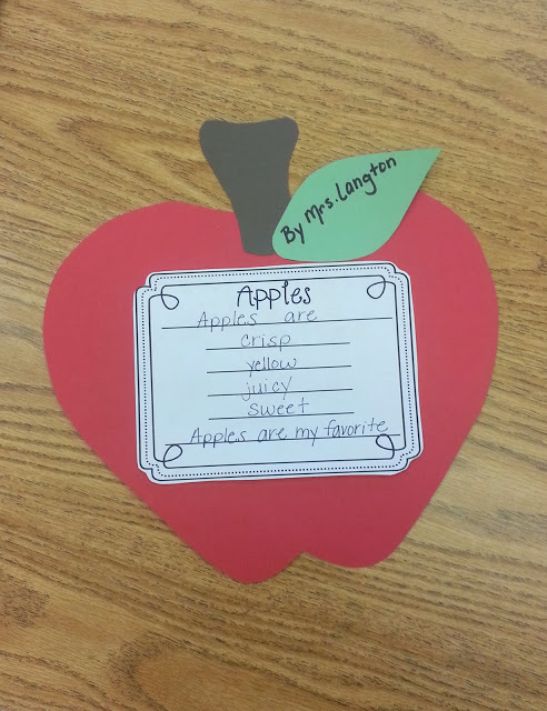 Cute and easy apple craft and poem activity! Great extension after our apple tasting!