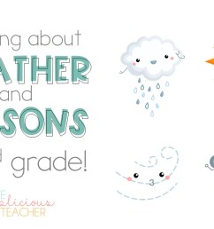 Learning About the Weather and Seasons in 2nd Grade - The Applicious Teacher [ 768 x 1248 Pixel ]
