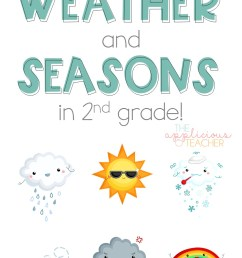 Learning About the Weather and Seasons in 2nd Grade - The Applicious Teacher [ 1444 x 950 Pixel ]