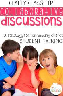 Academic Conversations- using that chatty class to learn!