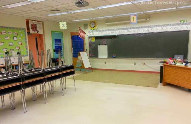 clean classroom