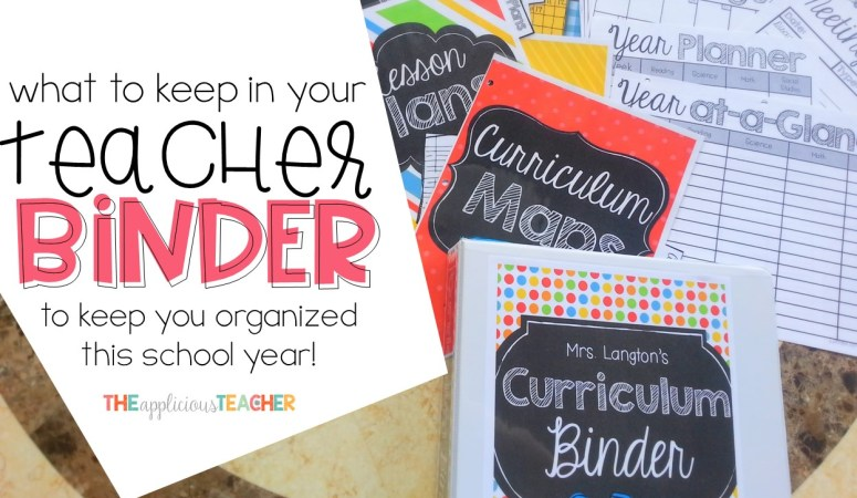 Curriculum Binder: A Teacher's Right Hand Man…