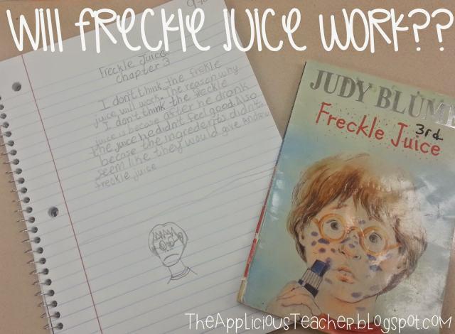 freckle juice writing response