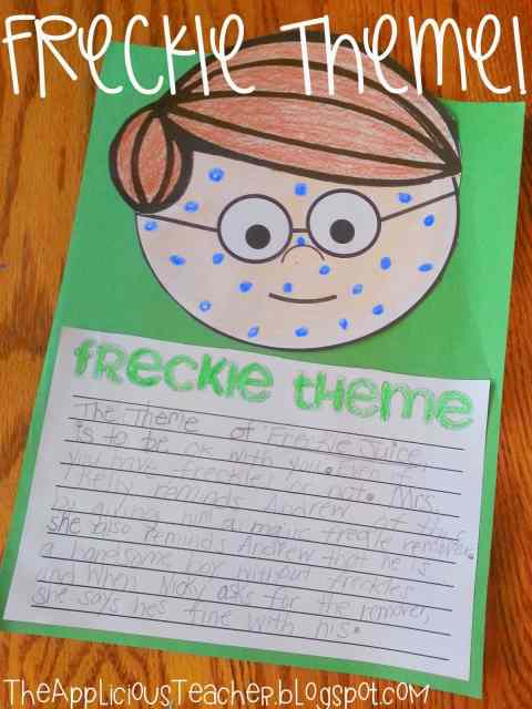 freckle juice writing craft