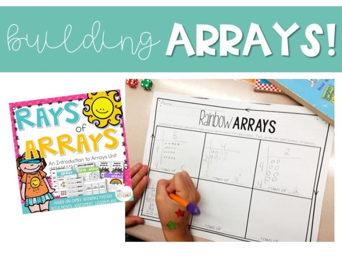 helping your students better understand arrays with this activity pack!