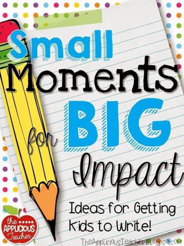 small moment writing writing ideas- the best way I've found to inspire my kids with their narrative writing!