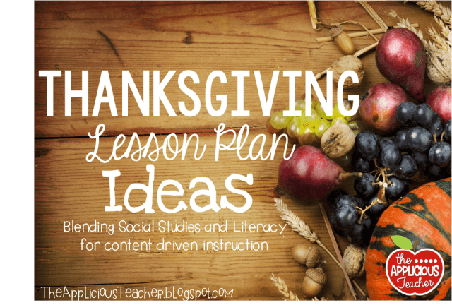 Thanksgiving lesson plan ideas for 3rd grade