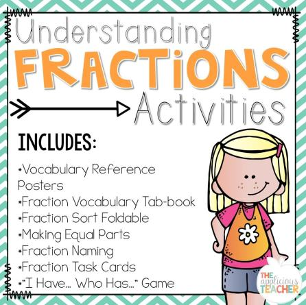 Fractions unit that is perfect for 2nd and 3rd grade