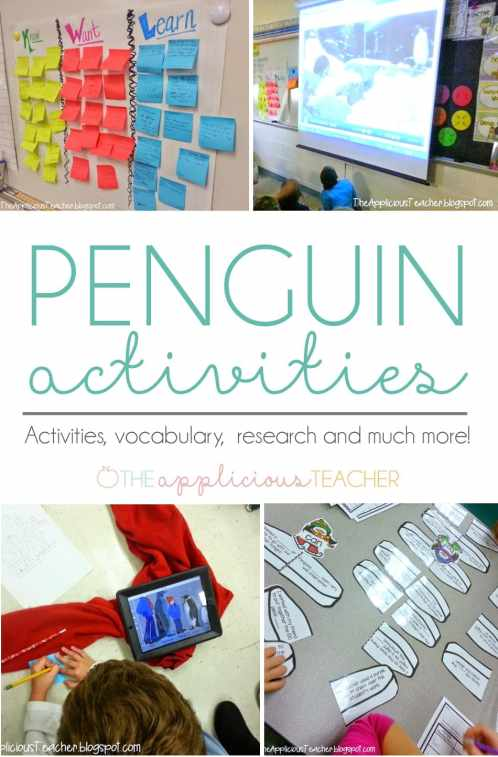Penguins unit for 3rd grade- so many great ideas for teaching about penguins! Love the free writing activity at the end! #penguinactivities #3rdgrade