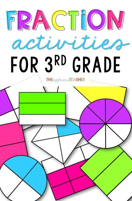 Fraction activities and games perfect for 3rd grade- The Applicious Teacher