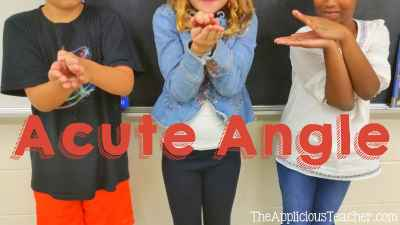 hand gesture for acute angles